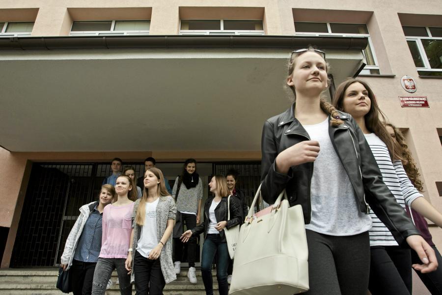 Gimnazjaliści z zespołu szkół nr 4 w Bydgoszczy