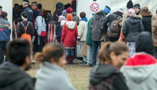 Imigranci na granicy austriacko-niemieckiej