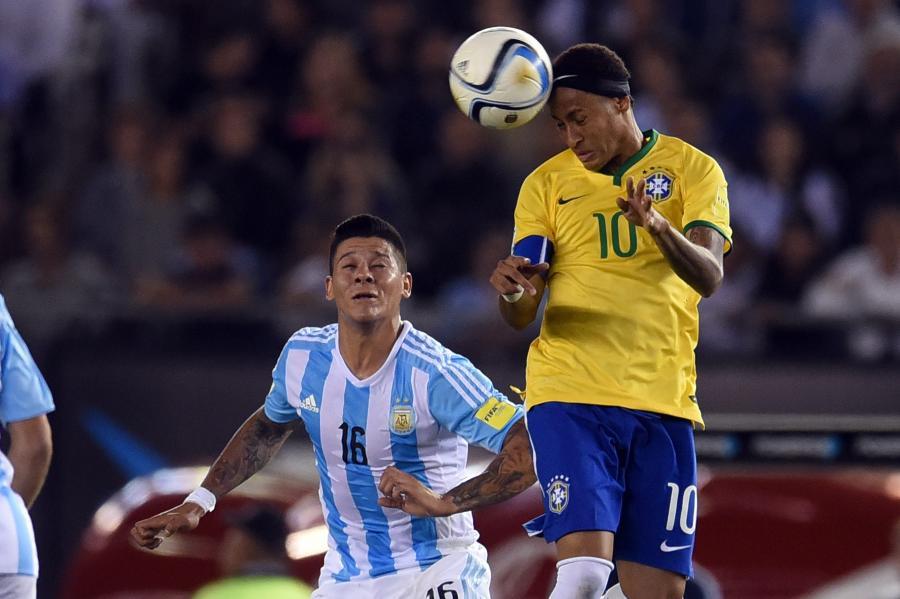 Marcos Rojo i Neymar Jr
