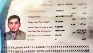 Paszport zamachowca opublikowany przez serwis blic.rs