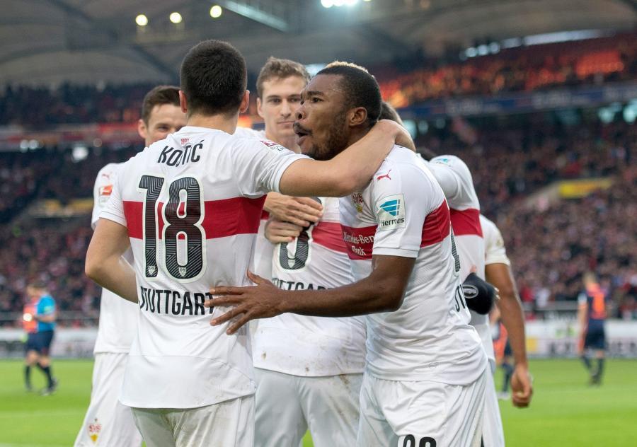 Radość piłkarzy VfB Stuttgart