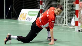 Bramkarka reprezentacji Polski piłkarek ręcznych Weronika Gawlik podczas treningu kadry w duńskim Herning