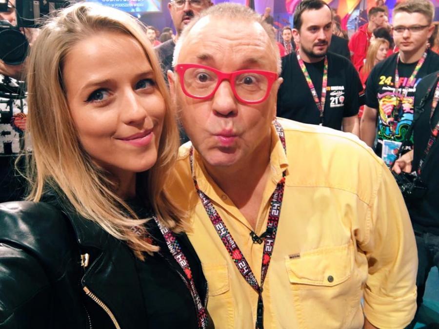 Jessica Mercedes i Jerzy Owsiak