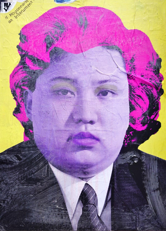 Londyn. Kim Dzong-Un na graffiti w brytyjskiej stolicy