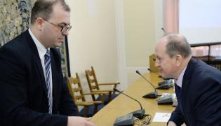 Poseł PiS Andrzej Jaworski i prezes Związku Banków Polskich Krzysztof Pietraszkiewicz