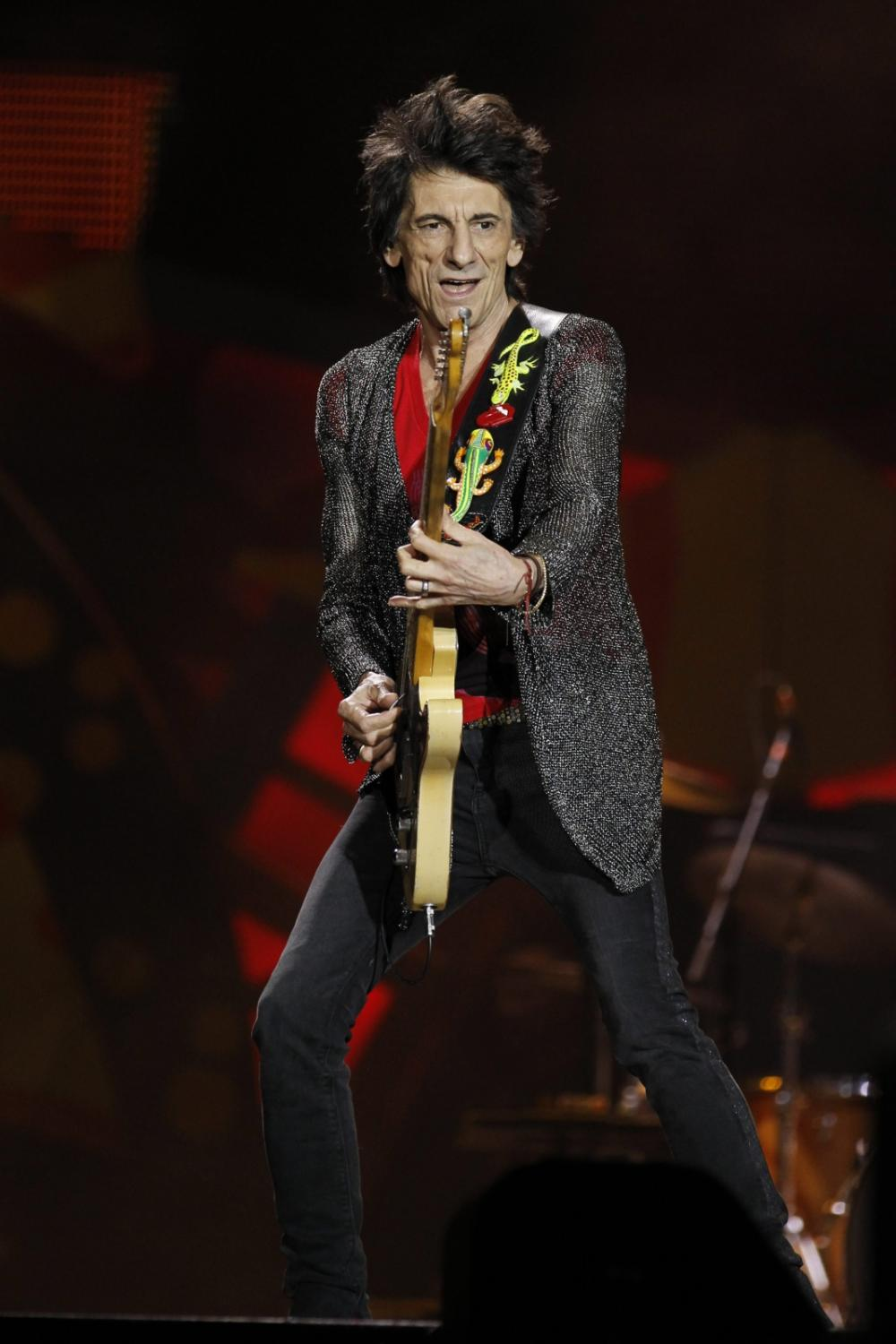 Ron Wood i The Rolling Stones w Urugwaju