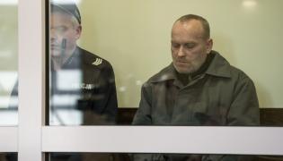 Skazany Zbigniew Ratajczak na sali sądu we Wrocławiu