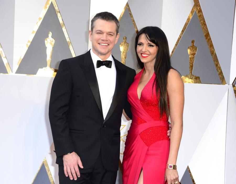 Najwięksi przegrani Oscarów 2016: Matt Damon (z żoną Lucianą Barroso)