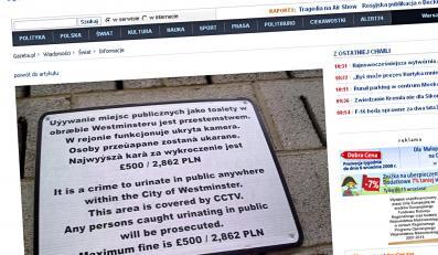 Londyn: patrz, gdzie sikasz, Polaku