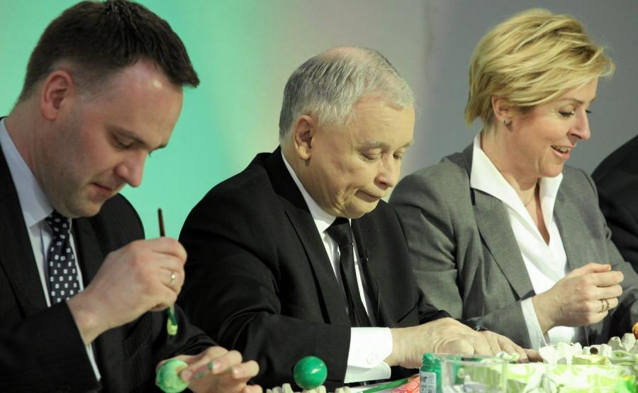 Dawid Jackiewicz i Jarosław Kaczyński