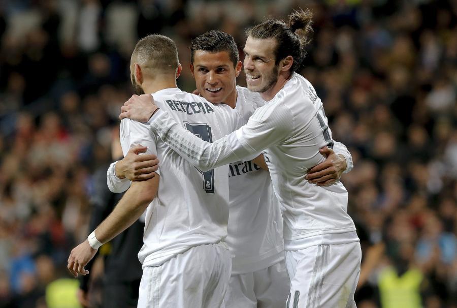 Gareth Bale, Cristiano Ronaldo i Karim Benzema