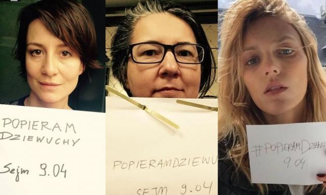 Gwiazdy przeciwko zaostrzeniu ustawy antyaborcyjnej. Akcja #popieramdziewuchy