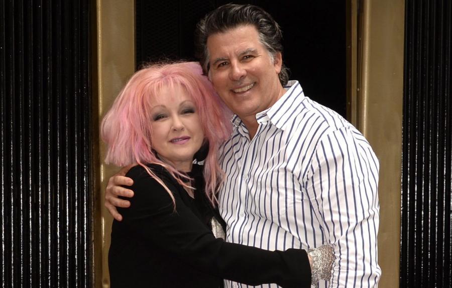 Cyndi Lauper i jej mąż David Thornton
