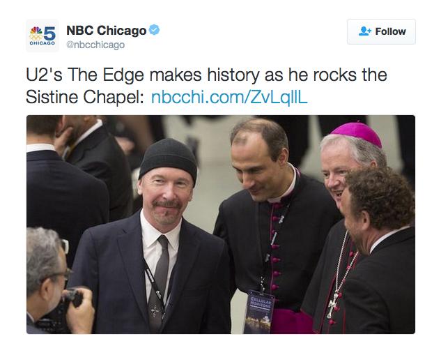 The Edge z U2 wystąpił w Kaplicy Sykstyńskiej w Watykanie