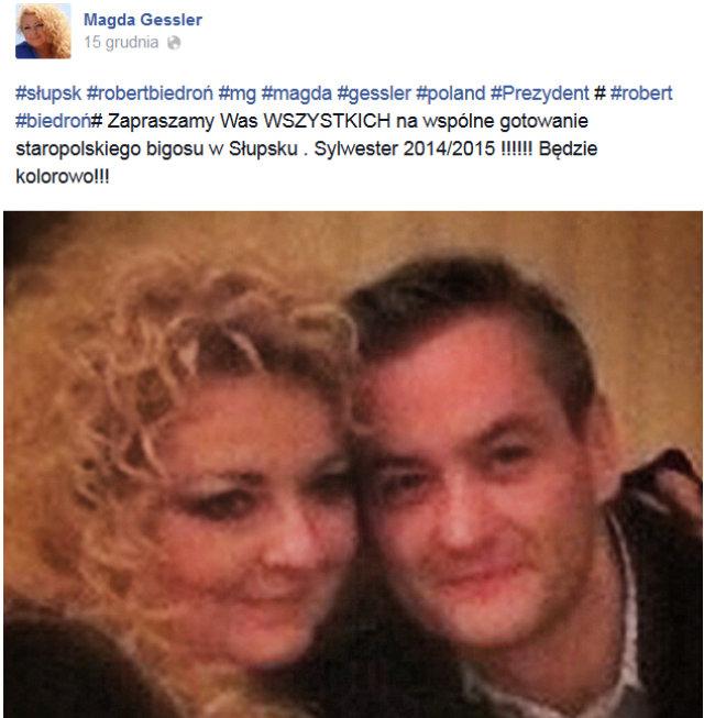 Magda Gessler i Robert Biedroń