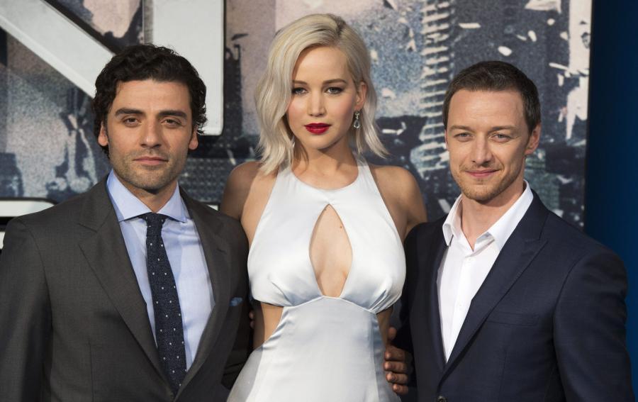 """Gwiazdy """"X-Men: Apocalypse"""": Oscar Isaac, Jennifer Lawrence i James McAvoy"""