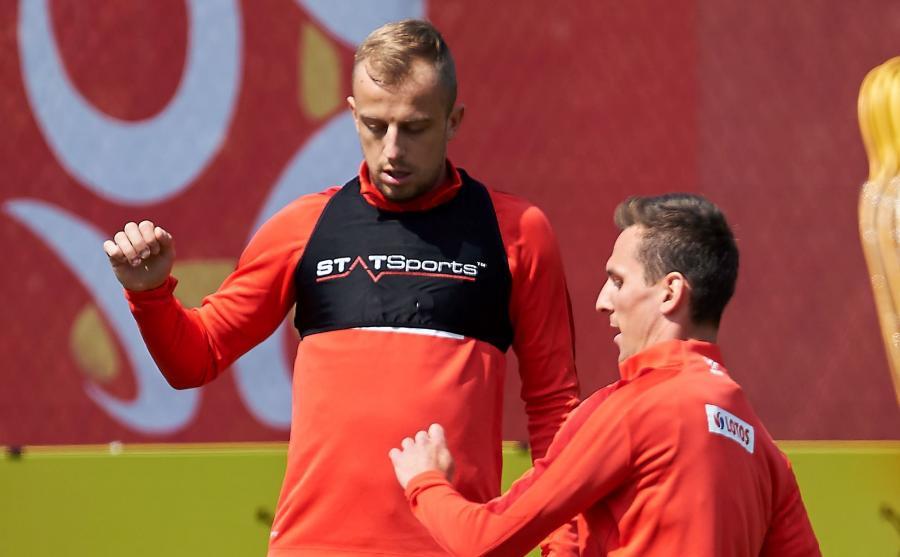 Kamil Grosicki (z lewej)