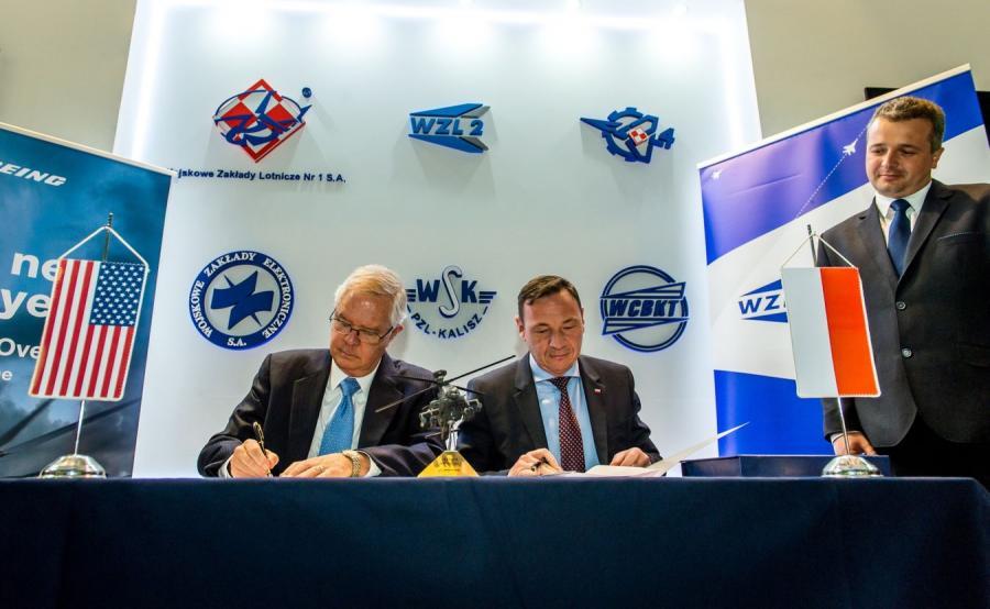 List intencyjny ws. współpracy Boeinga z Polską Grupą Zbrojeniową