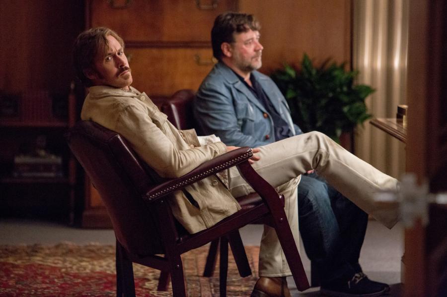Po prosti równi goście Ryan Gosling i Russell Crowe