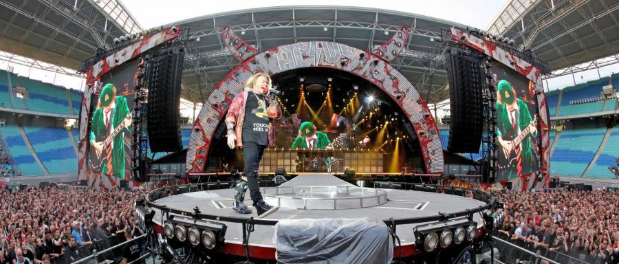 AC/DC podczas koncertu w Lipsku