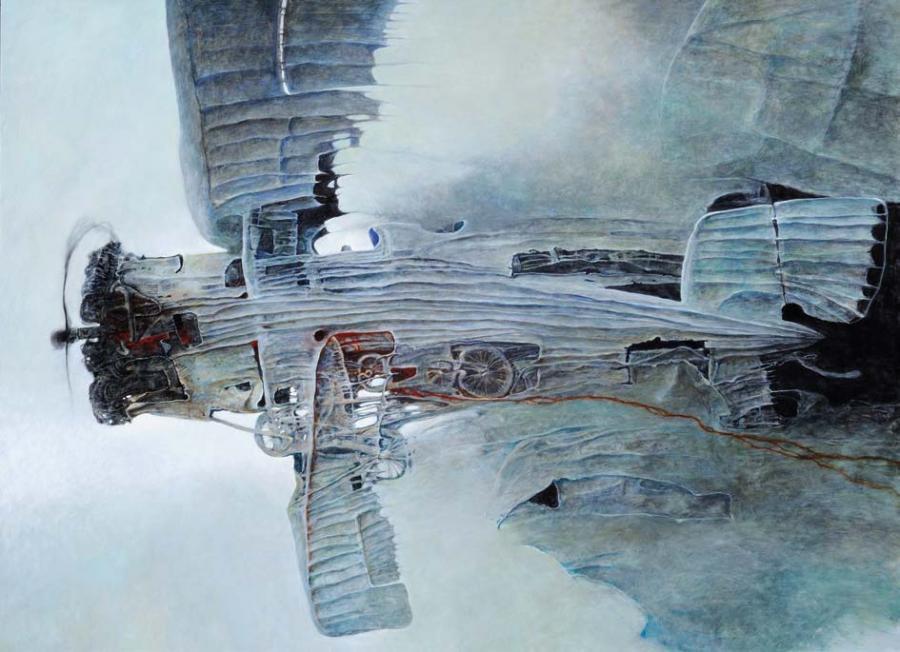 ZŚ, 2003, olej, 98 x 132 cm