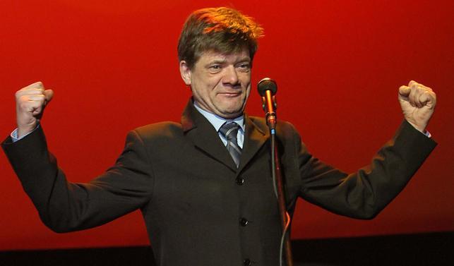 """Henryk Gołębiewski, laureat specjalnej nagrody miesięcznika """"Film"""" za rolę, bez której nie byłoby najlepszego polskiego filmu roku – """"Edi"""" (2003)"""