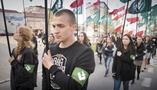 Demonstracja ONR na ulicach Białegostoku