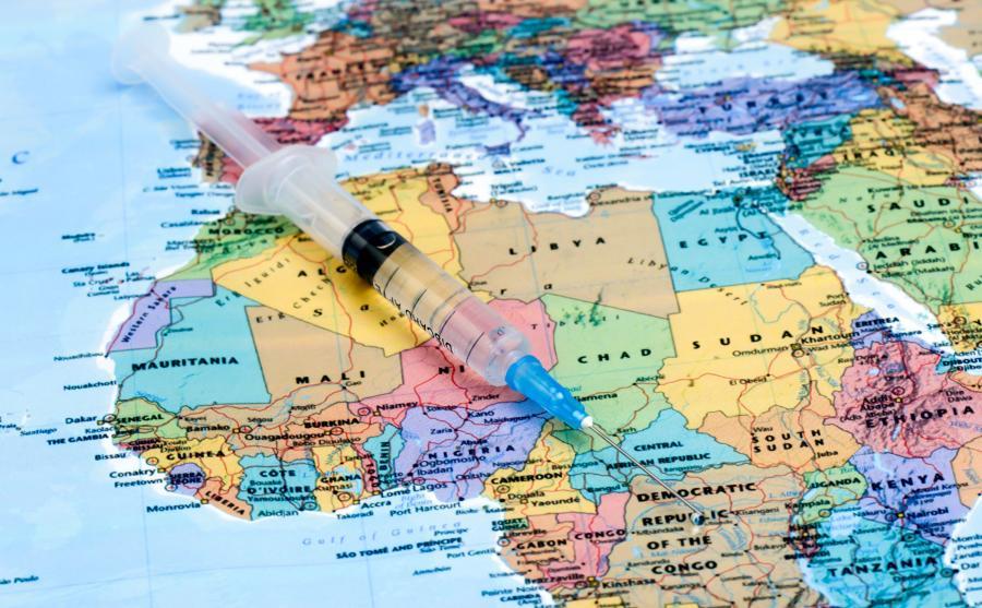 Strzykawka na mapie