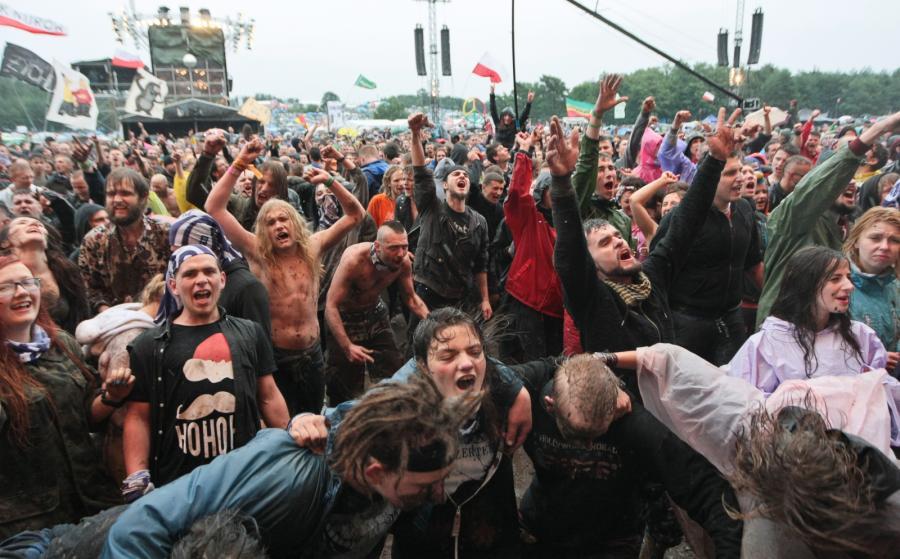 I nikomu z publiczności deszcz nie jest straszny / fot. Lech Majewski