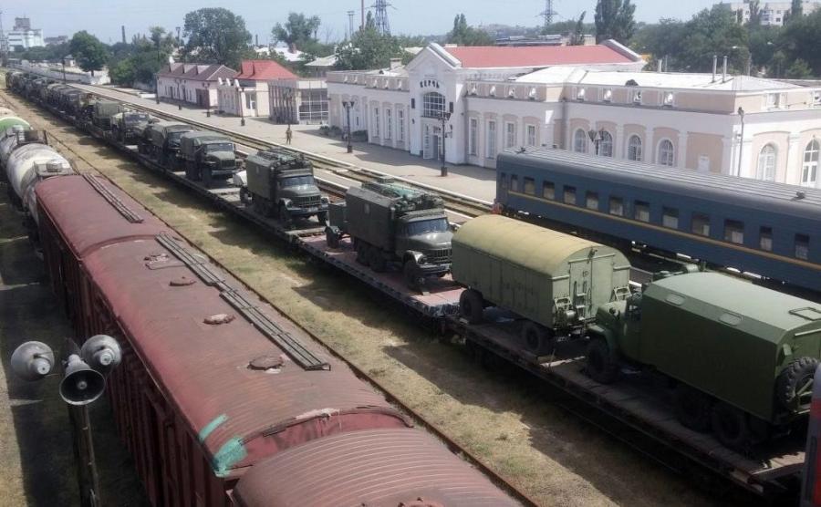 Rosyjski transport wojskowy na Krymie