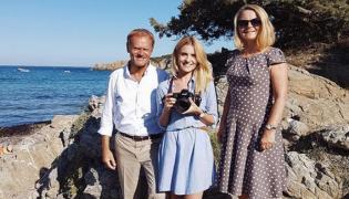 Donald Tusk z rodziną na Sardynii