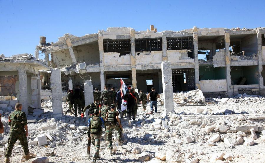 Syryjska armia w Aleppo