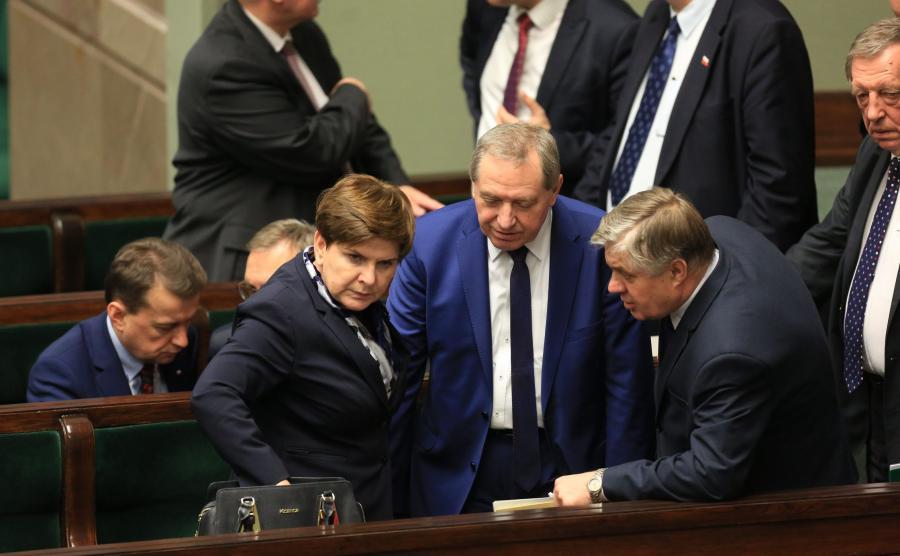 premier Beata Szydło, minister Henryk Kowalczyk i minister Krzysztof Jurgiel