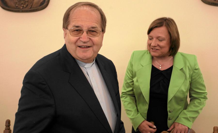 Ojciec Tadeusz Rydzyk i minister Beata Kempa
