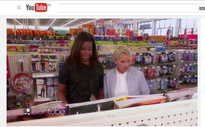 Michelle Obama i Ellen Degeneres na zakupach