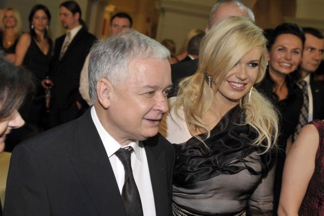 Doda z prezydentem Lechem Kaczyńskim i jego żoną, Marią Kaczyńską
