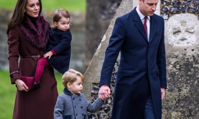 Rodzinka na medal: księżna Catherine i książę William z dziećmi na świątecznej mszy. FOTO