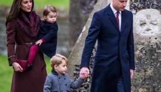 Księżna Catherine i księżniczka Charlotte oraz książę George i książę William