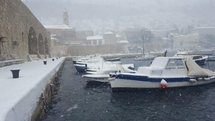 Dubrownik zaspany śniegiem. fot. Wspólnota Turystyczna Dubrownika