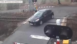 Wypadek na przejeździe kolejowym
