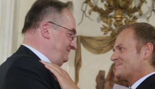 Jacek Saryusz-Wolski i Donald Tusk