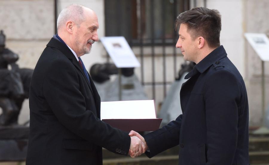 Antoni Macierewicz i Michał Dworczyk