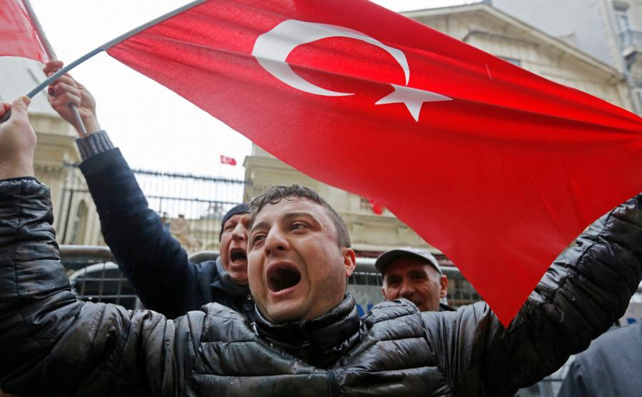 Antyholenderski protest w Stambule