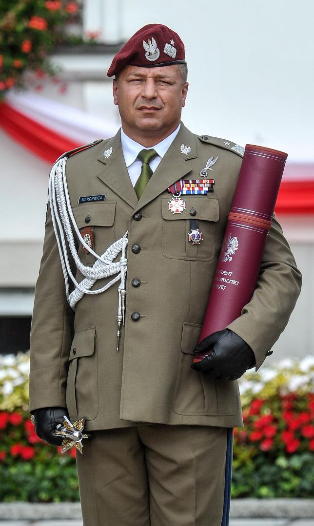 Nominowany na stopień generała płk Wojciech Marchwica. Zdjęcie z 15 sierpnia 2016 roku